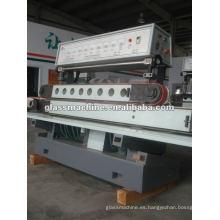 QJ877A-1 terrazo hormigón recta vidrio máquina con 11 ruedas