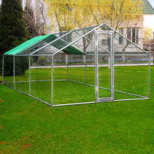 Metal Chicken Run Coop Enclosure με έλεγχο της BV