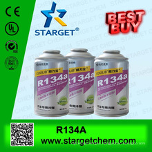 R134a Refrigerant gas, aerosol cans two-pieces packaging