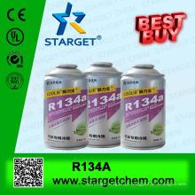 R134a gás refrigerante, embalagens de duas peças de aerossóis
