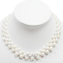 3 Rows Coin Fashion Pearl Necklace