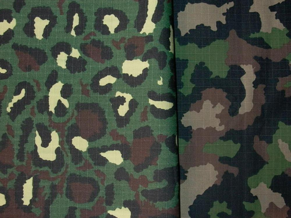 Ripstop camouflage fabric