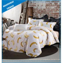 Estilo de frutas 100% algodão conjunto de cama edredão