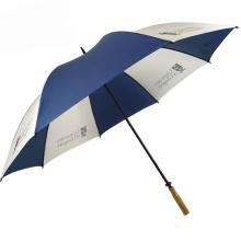150cm flat wood handle water resistant water proof winter umbrella manufacturers usa