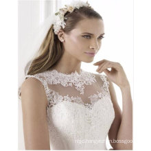 High Neck Mermiad Sleeveless Floor-Length Ivory Korea Style Wedding Dress