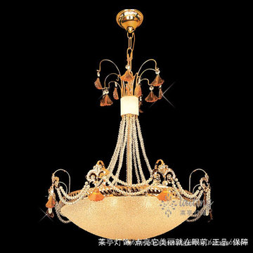 Iluminación interior directa de fábrica Lámparas de cristal dorado y luces colgantes