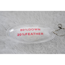 Oval Shape Inflatable PVC Label Filled with Down Feather