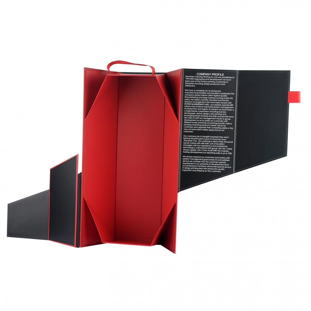 Folding Wine Paper Box Dengan Magnet