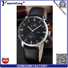 Yxl-065 Fashion Men′s Watch Calendar Michanical Luxury Watch Genuine Leather Steel Business Watches