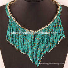 tassel pendant beaded fringe turkish multi layer bead necklace designs