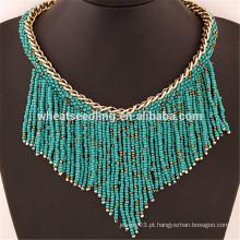 Tassel pingente frisado franja turca multicamada grânulo colar colar design