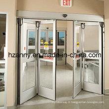 Opérateurs automatiques de portes bi-pliantes de sécurité pour porte en verre cadre