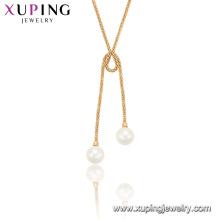 44998 Xuping Schmuck Mode trendige tanzende Peal Anhänger Halskette