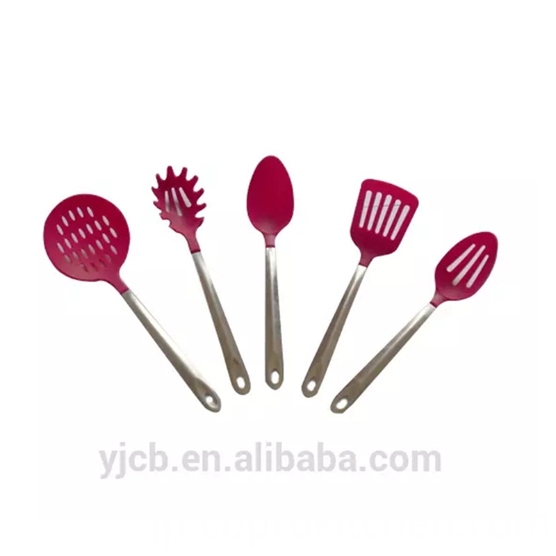 Pink Nylon Utensils Set