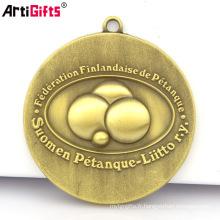 Oem Medal Maker En Gros Pas Cher 3D Marathon Sports Métal Or Médaille Clés