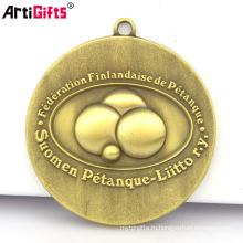ОЕМ медаль Производитель Оптовая дешевые 3D марафон спортивных металл золотой медалью ключи