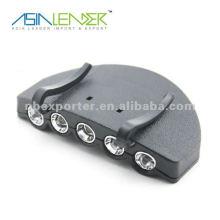 Portable 5 led cap light