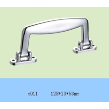 La manija plástica de plata para la caja de aluminio C011