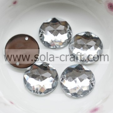 16 χιλιοστά Ακρυλικό Clear Faceted Octagon Bead Mirror Effect