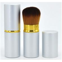 Brosse rouge de joue de poignée en bois solide, brosse de maquillage de maquillage de beauté de brosse rouge