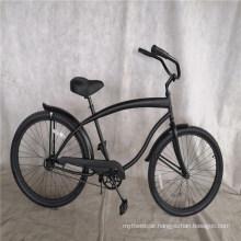 "Black Coaster Brake with Fender Mens 26"" Beach Cruiser Bicycle"