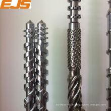 PVC, PE, PP parallele Doppelschnecken Bimetall-Beschichtung