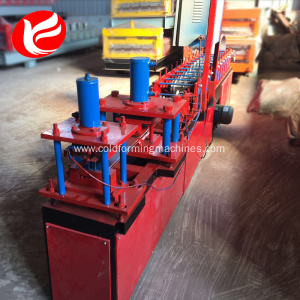 Automatic step steel rolling shutter door roll forming machine