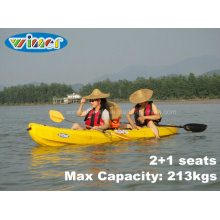 3.68mtrs 2+1 Seats Touring Plastic Family Kayak