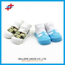 Baby 3D Karton Socken, Neugeborenes Baby Kinder Mädchen Anti-Rutsch-Spitze Blumen Socken