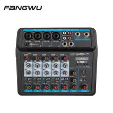 Top Quality Sound 6-Channel Professional Audio Mixer