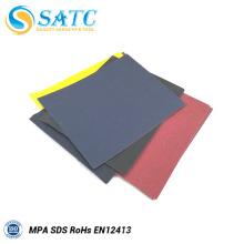 papel de lija abrasivo de carburo de silicio / papel de lija negro
