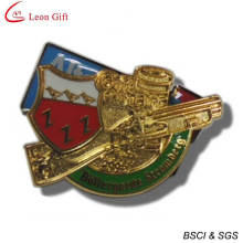 High Quality Custom Logo Gold Badge (LM1751)