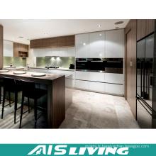 Meubles à haute brillance de Cabinet de cuisine de laque avec le coffret d'île (AIS-K201)
