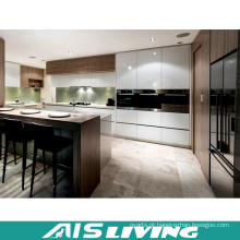Mobília de alto brilho do armário de cozinha da laca com armário da ilha (AIS-K201)