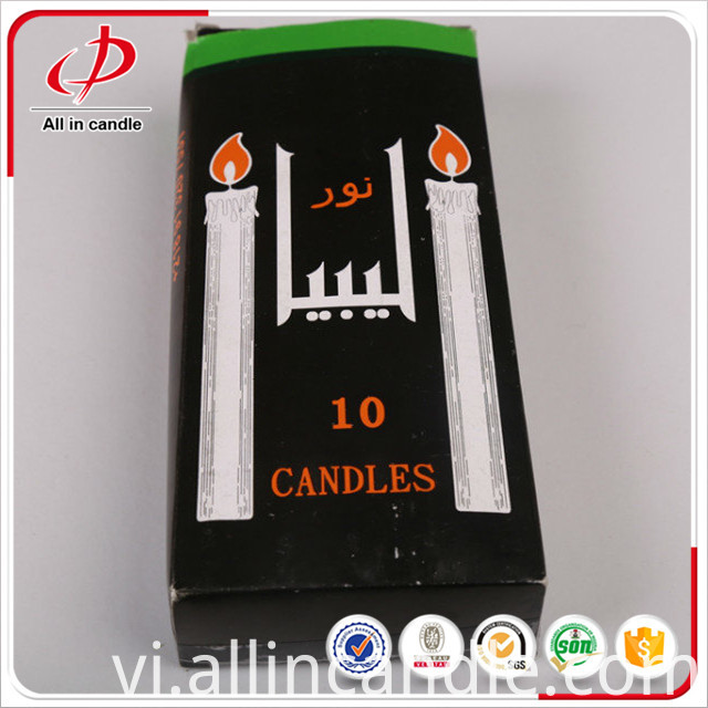 White Candle with Paper Box