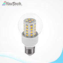 580lm transparent cover 6W E27 LED Corn light