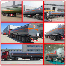 Chemical Liquid Trailer 3 Axle Hazardous Liquid Storage Tanker Semi Trailer 50cbm Chemical Liquid Trailer 50m3 for Sale