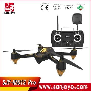 Drone sans brosse de Hubsan H501S X4 Pro 5.8G FPV avec l'appareil-photo 1080P HD / GPS / me suivent / retour automatique avec le contrôleur à distance de FPV1