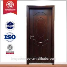 Vente chaude porte de maison moderne intérieur porte en bois design chambre d'hôtel porte chambre ou porte de toilette