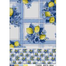 Neues Entwurfs-Muster PVC-klare transparente Tischdecke, PVC-Material und quadratische Form und