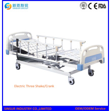 Hospital Furniture Three Crank Functional Medical Bed Price