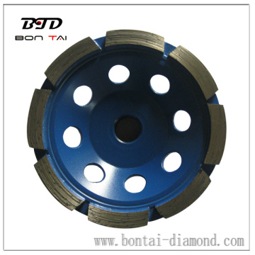 Premium dry cutting diamond cup wheel with single row
