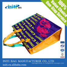 Экологически чистое качество Печать рекламной сумки из плетеной ткани с застежкой-молнией