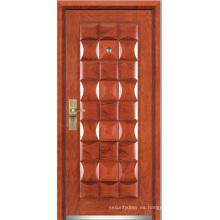 Puerta blindada de madera de acero (YF-G9022)