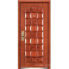 Porta blindada de madeira de aço (YF-G9022)