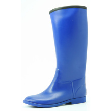 Blue Women's Pointed Riding Rubber Boots