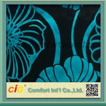 폴 리 에스테 소파 새로운 패턴에 대 한 벨벳 직물을 인쇄 했다