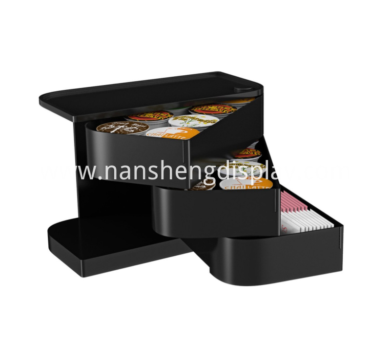 Coffee Pod Condiment Holder with Swing-Out Drawers