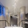 Hôtel villa hall salle à manger grand lustre pendentif
