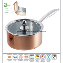 Tri Ply Copper Saucepan